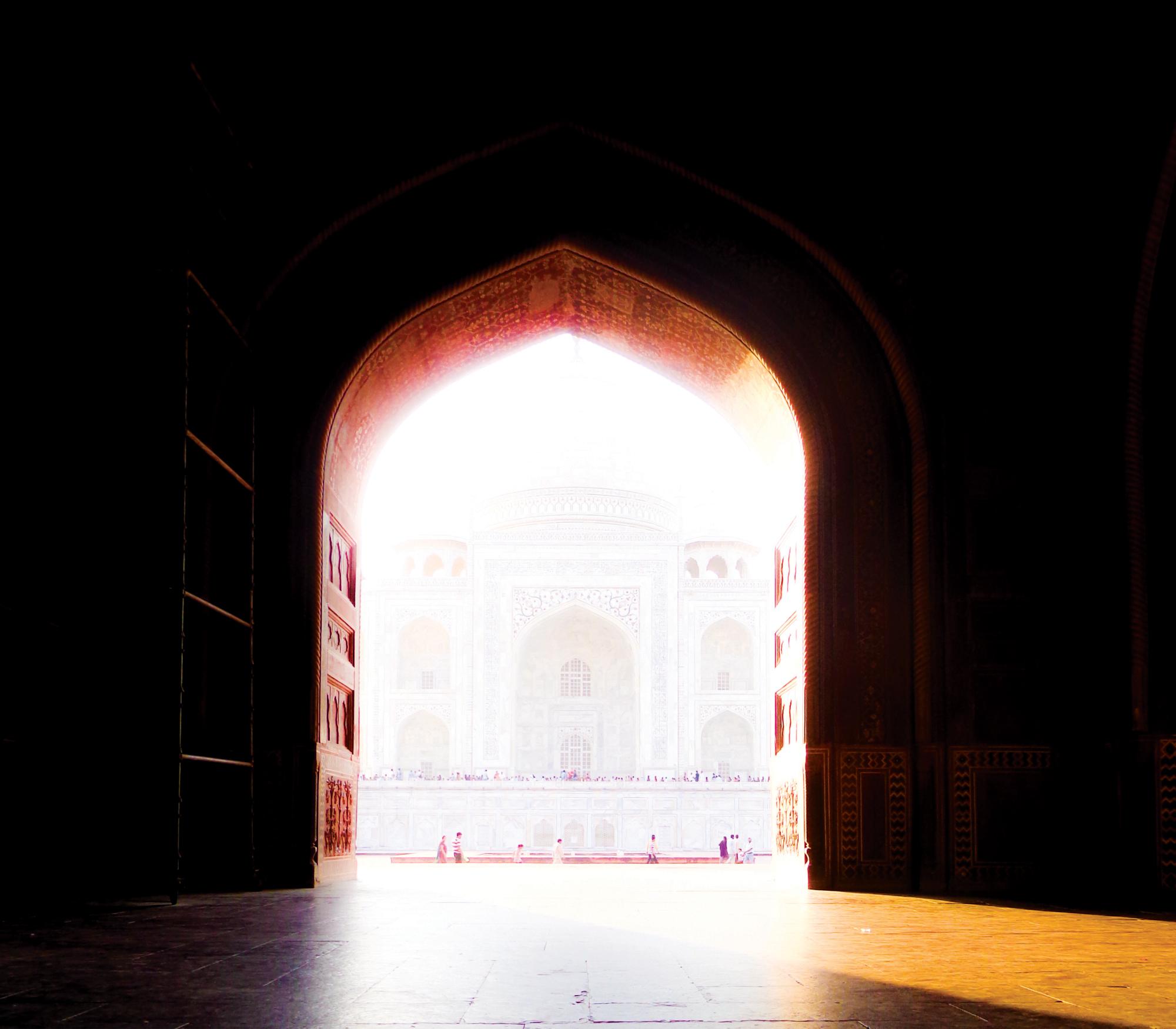 Beautiful photograph taken of the Taj Mahal at sunset. Photograph taken in Agra, India